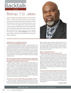 Backtalk with Bishop T.D. Jakes